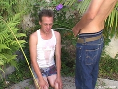 twink getting pissed on pee watersports