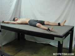 gay boy bondage bdsm restrained cock and ball torture restraint