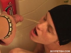 twink getting pissed on