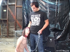 twink in chains bondage bdsm gay fetish
