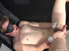 twink in sling jerk off bondage bdsm